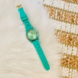 Francescas teal and gold watch